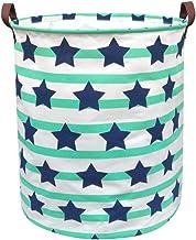 BOOHIT Cotton Fabric Storage Bin,Collapsible Laundry Basket-Waterproof Large Storage Baskets,Toy Organizer,Home Decor (Pen...