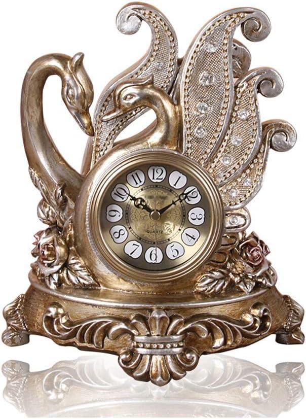 2021 MJJ Clock Decoration European Cygnus Bedroom Clo Sitting Popular brand in the world