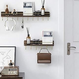 Étagère Tablette murale Hanger multifonctionnel derrière le mur de porte sac suspendu rack Cuisine support mural entrée en...