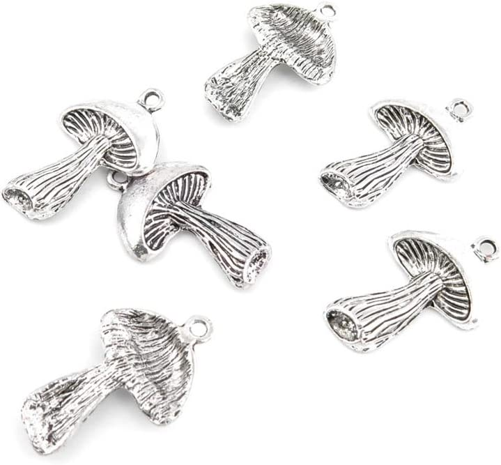 120 Pieces Antique Silver store Tone Sale SALE% OFF Mushr Charms Jewelry Making Z0240