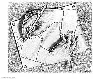(22x26) M.C. Escher (Drawing Hands) Art Poster Print