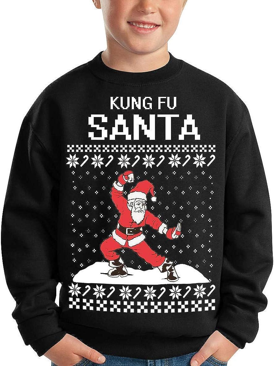 BesserBay Kids Christmas Ugly Santa Claus Sweatshirt 3-12 Years