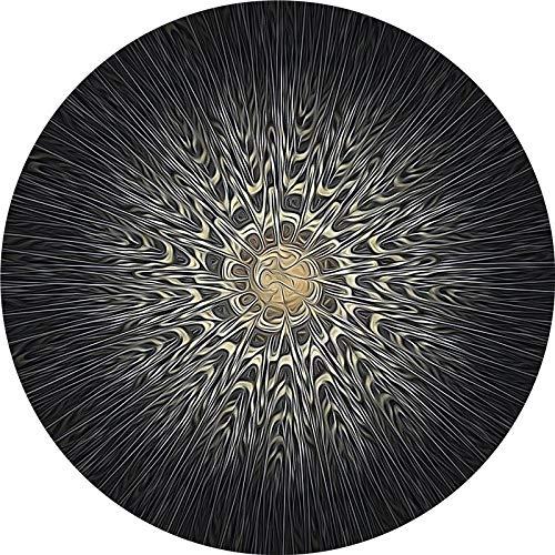 ZZKJCHENJIAN Runde Yogamatte/Faltbare Meditationsmatte, Rutschfester Gummi-Teppich, Fußmatte - für Männer und Frauen, Durchmesser 60 cm, C