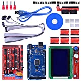 Longruner 3d Printer Controller Kit Mega 2560 R3 + Ramps 1.4 + 5pcs A4988 Stepper Motor Driver with...