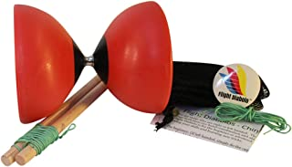 Flight High Performance Diabolo Pro Chinese Yoyo with Handsticks, Net Bag and Extra Strings … (red)