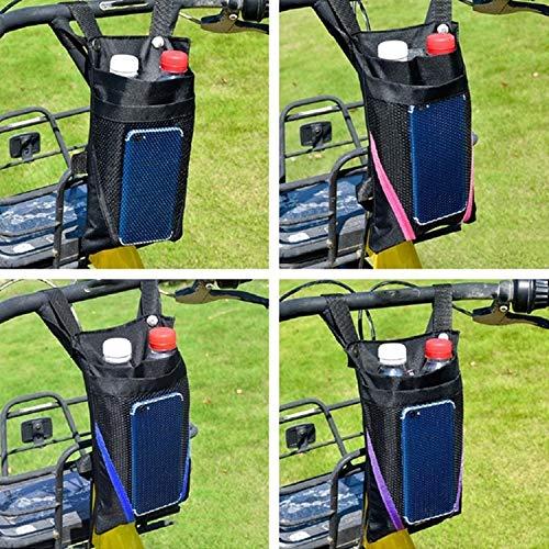 Accesorios para Bicicletas Bolsa de Almacenamiento de Motocicleta eléctrica Pequeña Bolsa de Almacenamiento de la manija Frontal de la Bicicleta, Color: Pequeña Franja Rosa Negra, Zhongxianshangmaoyo