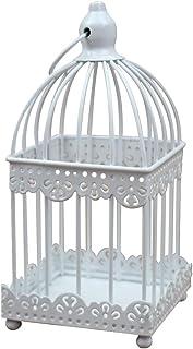 JUNGEN® Candelabro de Retro Candeleros de Metal con Forma de Jaula de pájaro Decoraciones Hierro Creativas para Boda Escritorio Oficina Hogar