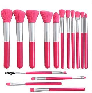 Houjiilollhzs Makeup Brush, 15 PCS Makeup Brush Beauty Tools Set Eye Shadow Brush Eyebrow Brush Double-ended Eyelash Brush...