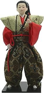 Flameer Japanese Oriental Ethnic Samurai Doll Collection Figurine Decoration Gift C