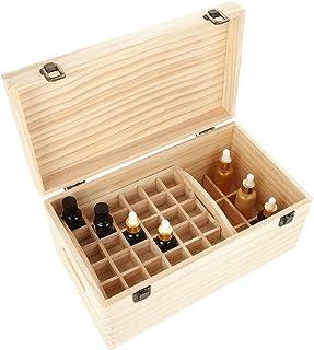 Boîte de rangement en bois pour huile essentielle, 2 niveaux 66 emplacements pour le tri des huiles essentielles, organisa...