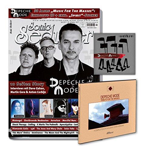 Sonic Seducer 04-2017 mit Depeche Mode Titelstory (10 S.) + exkl. Tribute CD zum Album Music For The Masses + exkl. Sticker zum Album Spirit, Bands: Blutengel, Alphaville, New Model Army u.v.m.