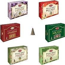 Hem Precious 6 Variant Assorted Incense Dhoop Cone Set (15.2 cm x 12.7 cm x 6.4 cm, Pack of 120)