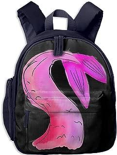 Pinta Pink Mermaid Cub Cool School Book Bag Backpacks for Girl's Boy's