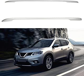 ECCPP Roof Rack Side Rails Luggage Cargo Carrier Roof Side Rails Fit for Nissan Rogue 2014-2016 2014 2015 2016,Silver Aluminum Cross Rails