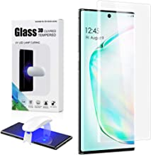 Foluu Galaxy Note 10 Screen Protector, Full HD Curved Edge [Liquid UV Tempered Glass][Exclusive Solution for Ultrasonic Fingerprint] Easy Install Kit for Samsung Galaxy Note 10 2019 Phone (1 Pack)