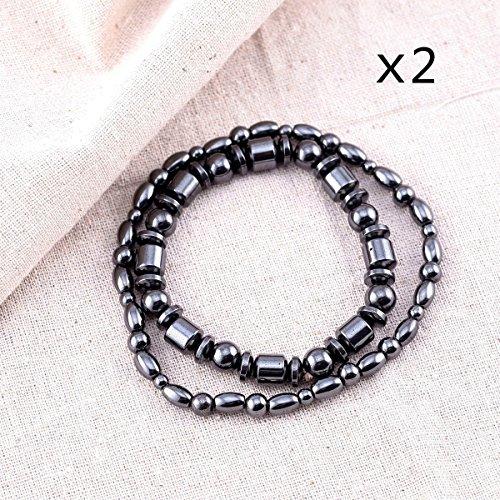 Best Price! VIKI LYNN Magnetic Hematite Ankle Bracelet Anklet, 9.5 - 2 Anklet+2 Bracelet