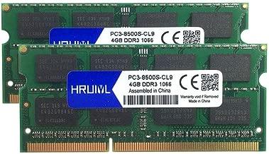 HRUIYL for Apple 8GB Kit (2X 4GB) DDR3 1067MHz / 1066MHz 1067/1066 PC3-8500 PC3-8500s SODIMM Memory RAM for MacBook, MacBook Pro, iMac, Mac Mini A1342 A1278 A1286 A1297 A1224 A1225 A1311 A1312 A1283