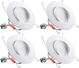 TORCHSTAR 5/6 Inch Retrofit LED Gimbal Downlight, 900lm, 13W (100W Equiv.), UL & Energy Star Listed Dimmable Recessed Light, CRI90+, 5000K Daylight, 5 Years Warranty, Pack of 4