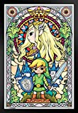 Pyramid America Legend of Zelda Stained Glass Video Game Gaming Black Wood Framed Poster 14x20