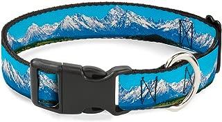 Buckle-Down Plastic Clip Collar - Landscape Snowy Mountains - 1