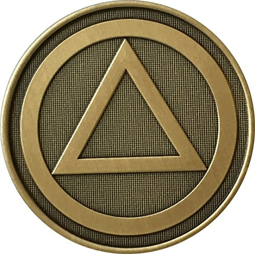wendells AA Alcoholics Anonymous Circle Triangle Logo Bronze Medallion Sobriety Chip