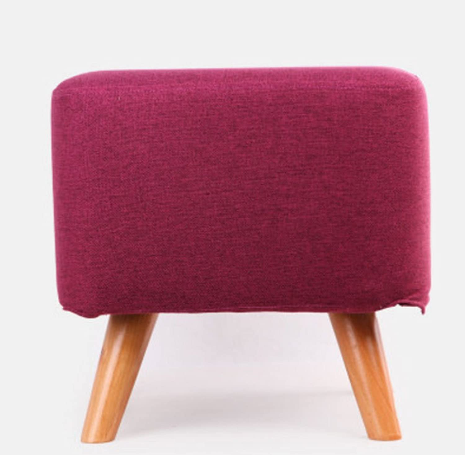 Sofa Stool, Household Side Stool Stool Fashion Sofa Stool Coffee Table Small Stool Bedroom Take a Stool Solid Wood shoes shoes Living Room Creative (color    4)