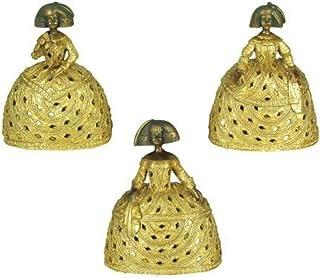 CAPRILO Set de 3 Figuras Decorativas de Resina Meninas. Adornos y Esculturas. Decoración Hogar