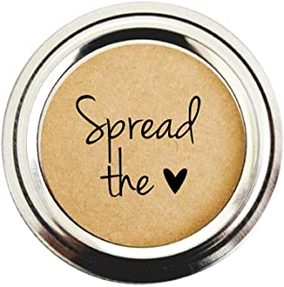 Spread The Love Labels for Mason Jars, Canning Jars, by Once Upon Supplies, Jam and Jelly Labels, Set of 40 Labels, 2 Inches
