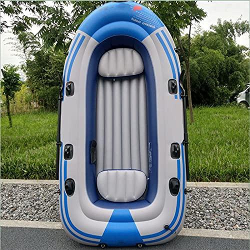 PZJ-Bote Inflable con remos, PVC, colchón de Aire Inflable para Barcos Marinos, Resistente, para 2 Personas, balsa Inflable, Bote de Pesca, Soporte hasta 150 KG