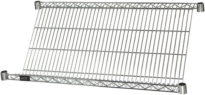 One 24 W x 36 L Slanted Shelf - Chrome