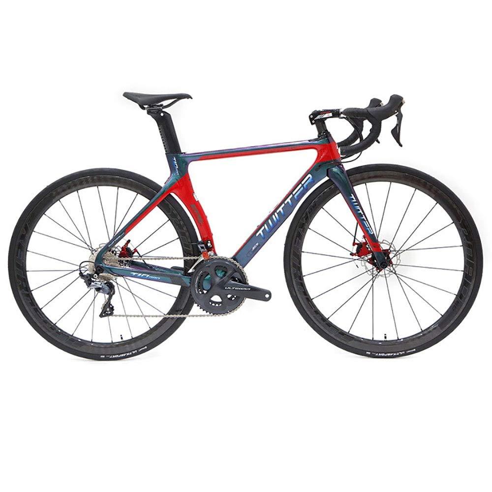 Wanlianer-Cycling Freno de Disco Cuadro de Carretera de Fibra de Carbono Pintura Que Cambia de Color Cuadro de Bicicleta de Carretera de Viento Roto (Color : Blanco, tamaño : L): Amazon.es: Hogar
