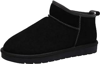 CAMEL CROWN Zapatos de Casa Botas de Invierno Hombre Espesar Zapatillas de Casa Unisexo Botas de Nieve Botines Fluff Antideslizantes Interiores y Exteriores