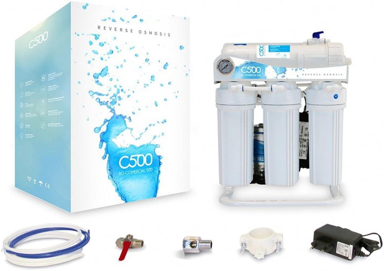 Direct Flow C500 Umkehrosmoseanlage mit Pumpe Trinkwasseranlage Trinkwasserfilter Osmosefilter Membranfilter Osmoseanlage Wasserfilter