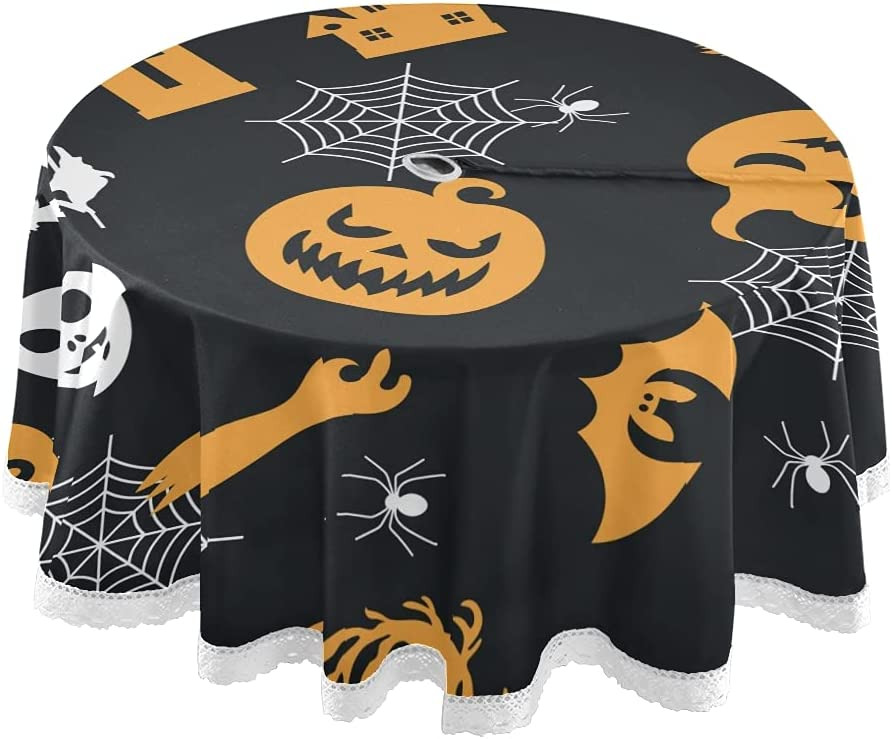 Popular overseas Special price xigua 60Inch Halloween Tablecloth Table Round Elements