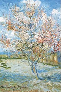 Pyramid America Flowering Peach Trees Vincent Van Gogh Cool Wall Decor Art Print Poster 24x36
