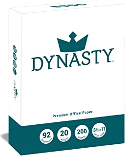 Dynasty Copy Paper, White Paper, 8.5 x 11, Letter, 92 Bright, 200 Sheet Ream - Diversity Product, MBE Certified