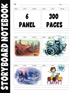 Storyboard Notebook: Blank Storyboard Sketchbook, Template Book With Panels - 300 Pages for Storytelling - Animation Story...