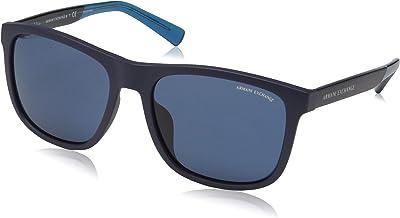 A|X Armani Exchange mens Ax4049sf Square Asian Fit Sunglasses Square Sunglasses