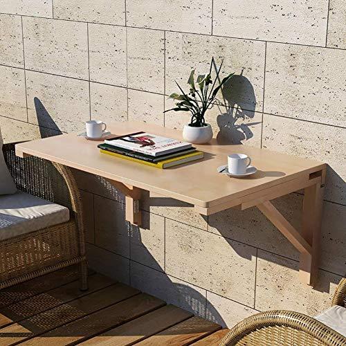 ZXLDP Outdoor-Balkon Wand-Klapptisch Drop-Leaf, Holz Einfache Schwimmende Klappschreibtisch, Einfache Installation (Size : 60×40cm(23.6