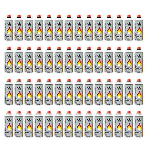 Mianova Gaskartuschen 227g Butan Gas | Bunsenbrenner Campingkocher Kocher Gaskocher Camping Gasheizung Grill Gasbrenner Lötlampe Set 56 Gasflaschen