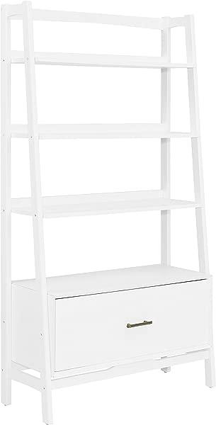 Crosley Furniture Landon Large Etagere Bookcase White