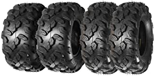 MaxAuto ATV/UTV Tires 26x9-12 26x9x12 Front & 26x11-12 26x11x12 Rear 6PR, Complete Set of 4