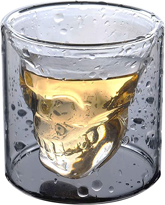 Bicchiere da liquore con teschio 100ml / 3.5oz  - hwagui  skull glass-100