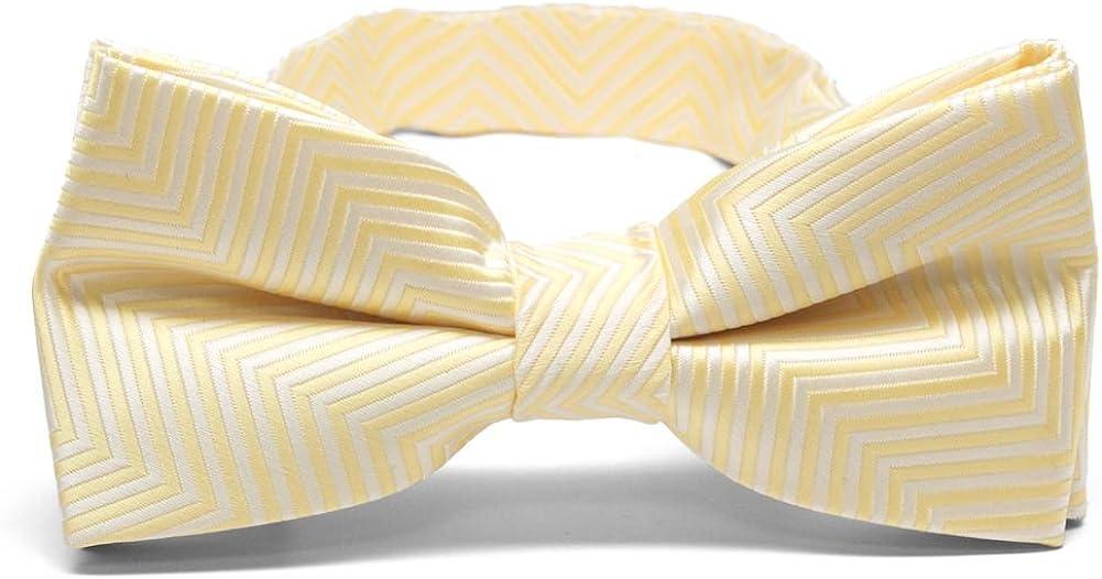 TieMart Pre-Tied Adjustable Men's Band Collar Bow Tie