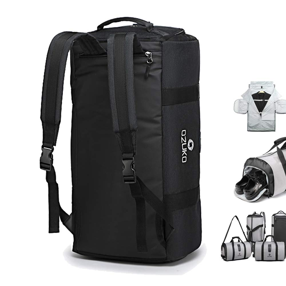 OZUKO Gym Bag Backpack, 4 in 1 Carry on Garment Bag Large Duffel Bag Suit Travel Bag Weekend Bag Flight Bag Overnight Bag with Shoes Compartment