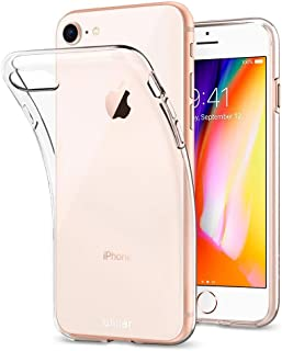 Olixar iPhone 8 Clear Case - Slim Soft Gel Cover - Ultra Thin Silicone - 100% Clear - Flexible Transparent Case - Wireless...