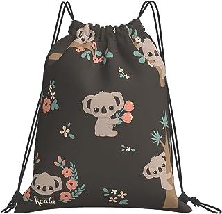 Cute Panda Waterproof Gym Drawstring Backpack String Bag Cinch, Sports Sackpack Travel Swimming for Women & Men