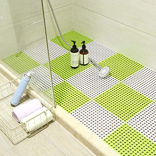 Buy Bath mats antiscivolo Absorbent Floor Mat Stitching Shower Room Bathing Water Hollow Plastic Foo...