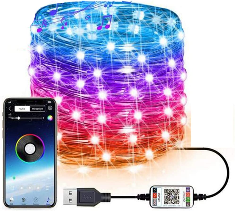 LED Rare Fairy Lights Selling Music Sync Controlled Color Changing App RGB