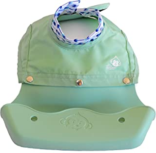 The Little Monkey Company Silicone Bibs for Babies and Toddlers - Wipes Clean in Seconds Waterproof Bib Protects From Every Mess - Made with Eco-Friendly Premium Materials